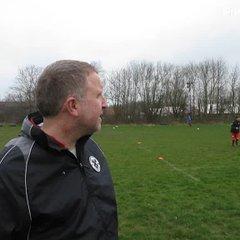 Pre-match vs Burgh Athletic