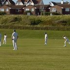 Billy Wootten bowling against Glynde 3s