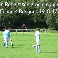 Connor Robertson's goal against St Francis Rangers 19-8-17
