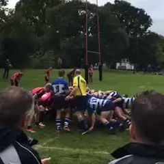 1st XV vs Mavericks 16/09/17. B.Bignell try