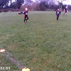 Tap Tackle Christmas U11s Lads (and Coach) v Dads