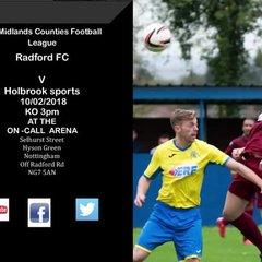 Radford v Holbrook sports