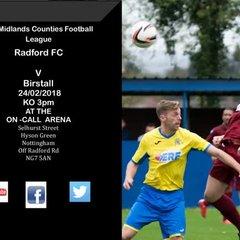Radford v Birstall