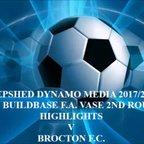 Brocton F.C. Buildbase F.A. Vase 2nd Round 2017/2018