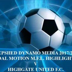 Highgate United F.C. Total Motion M.F.L. 2017/2018