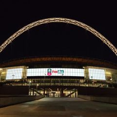 Wembley Lights up for 2017/2018 F.A. Cup Entrants 17.5.2018