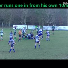 Baker runs try in from own 10m line
