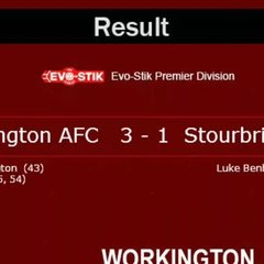 Reds v. Stourbridge Sat 18 Mar 2017