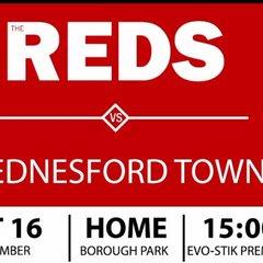 Reds v. Hednesford Town - Sat 16 Sep 2017