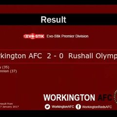 Workington AFC v. Rushall Olympic - Sat 7 Jan 2017
