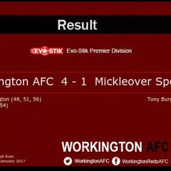Reds v. Mickleover Sports - Sat 14 Jan 2017