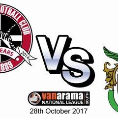 Truro City FC v Bognar Regis Town FC - 28th October 2017