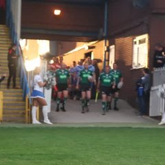 The teams walk out.....