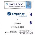 Ladies 1 v Fylde Ladies 1 10.3.18