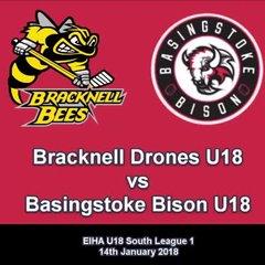 Bracknell U18 1 Bison U18 4 (Jan 18 2018)