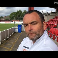 19-8-2017 - Ashton United v Grantham Town - post match interview with Grantham Town Assistant Manager Danny Martin