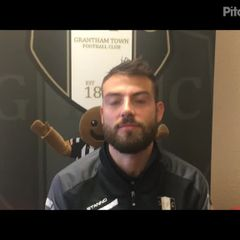 14-10-2018 - Grantham Town v Lancaster City - post match interview with Tom Ward