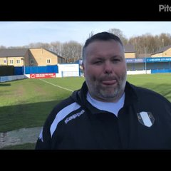 6-4-2019 - Lancaster City v Grantham Town - post match interview with Grantham Town joint manager Paul Rawden