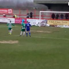 Missed penalty against Northwich Victoria