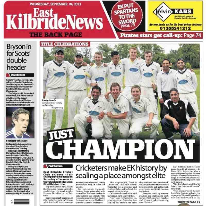 EK League Victory Spread in EK News! - Club photos - East Kilbride CC 1130053dd