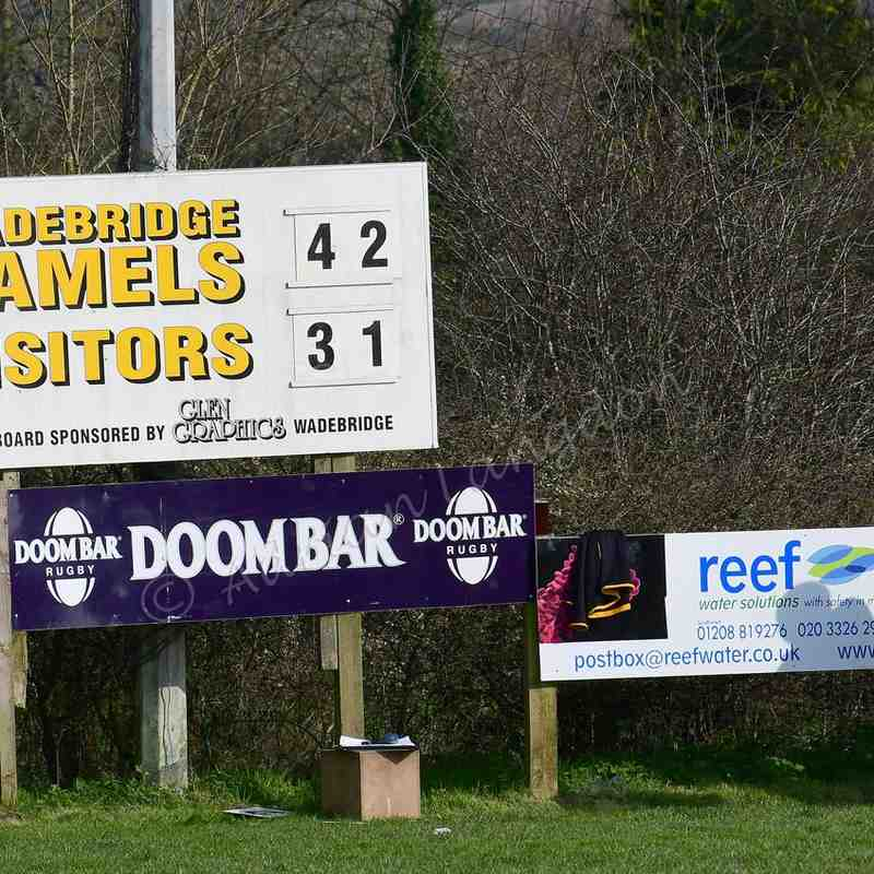 Wadebridge Camels v Truro Tribute Cornwall Cup semi final 26.3.17