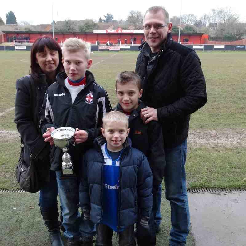 Lewis Espley U12 Player of the Month December 2014