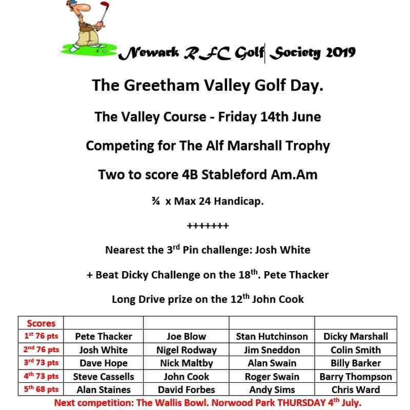 14-06-2019 The Greetham Valley Golf Day
