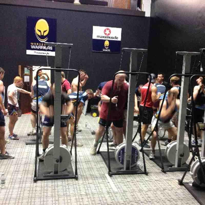 Pre-season weight training at Malvern College / Warriors Gym