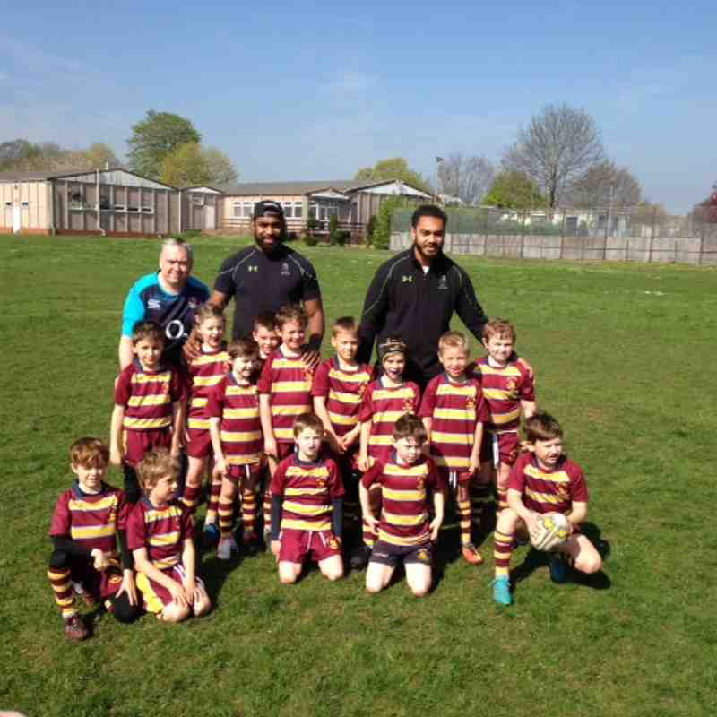Visit by Worcester Warriors players to Spring Lane