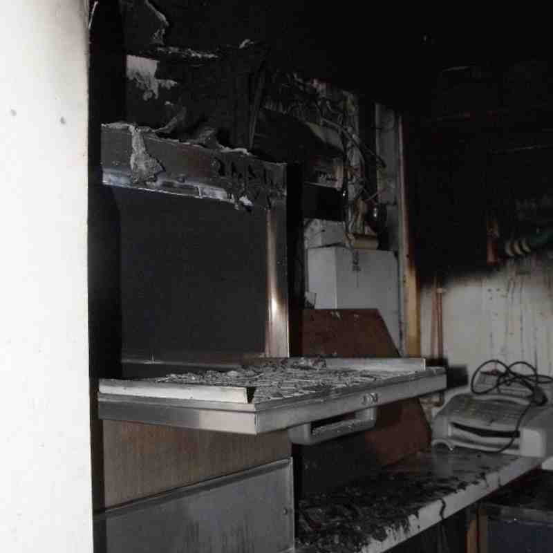 Walcot Clubhouse Fire (summer 2011)