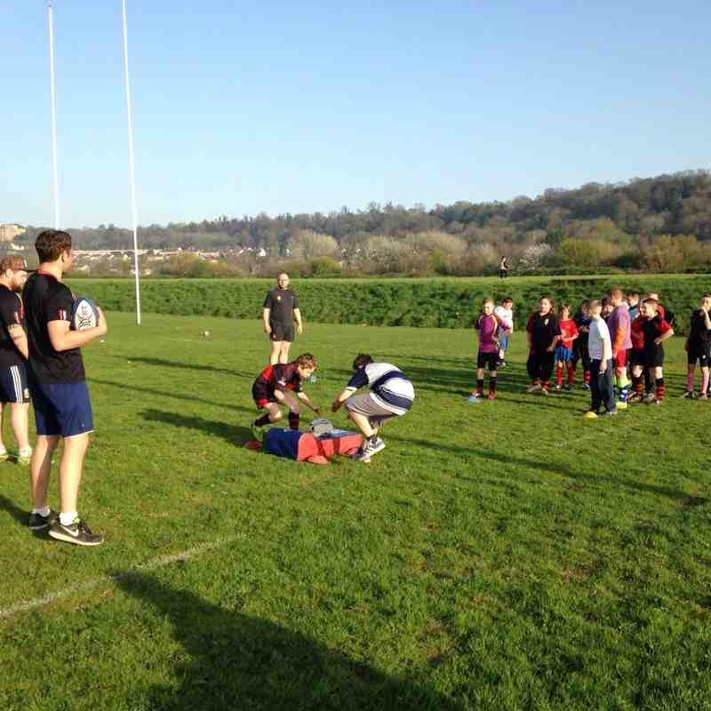 Juniors & 1st XV training session