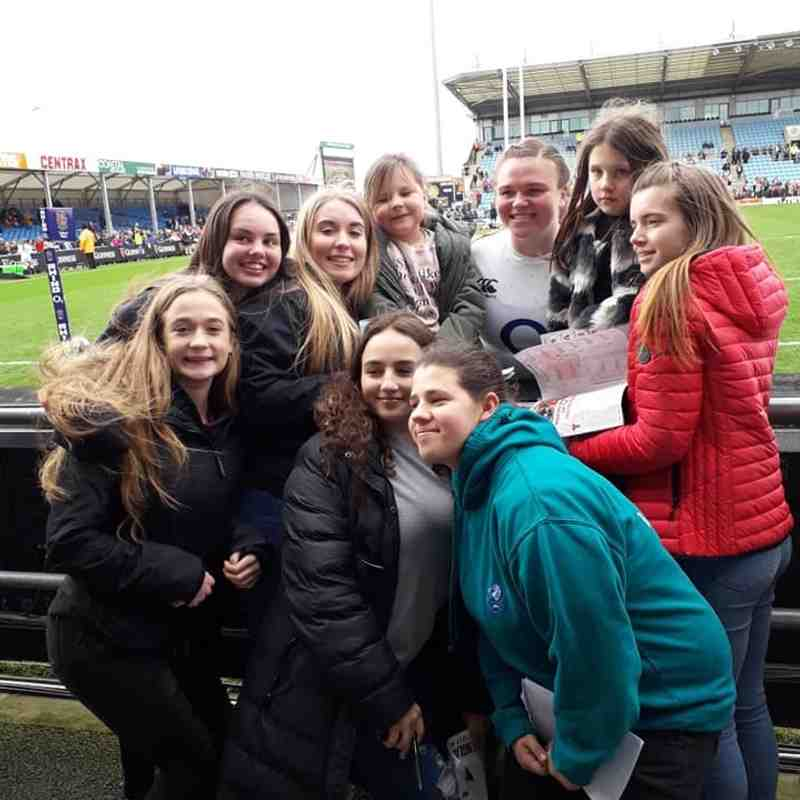 Womens 6 Nations visit for Junior Girls