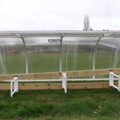 DUGOUTS DAMAGED BY DORIS