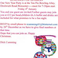 100 Club Party Invite