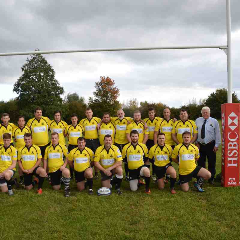 New shirts for Rushden & Higham RFC as displayed by 1st and 2nd XV vs Olney 22/10/16