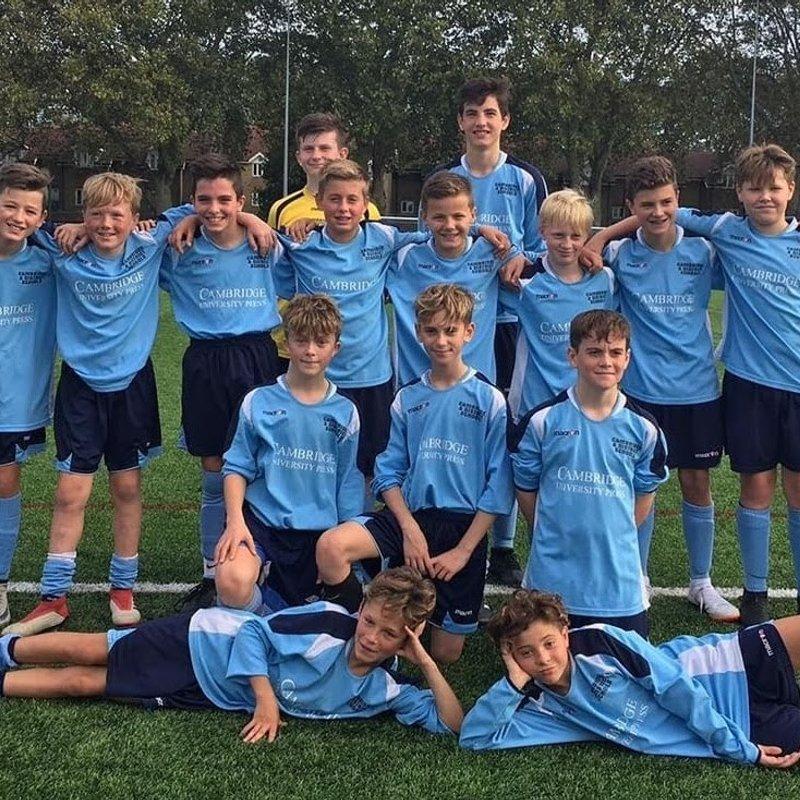 Under 13 beat Chelmsford & Mid Essex SFA 3 - 2