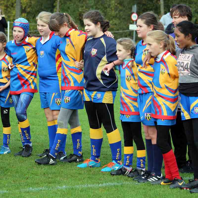 EIRFC U13 GIRLS @ OLD ALBANIANS 22/101/17