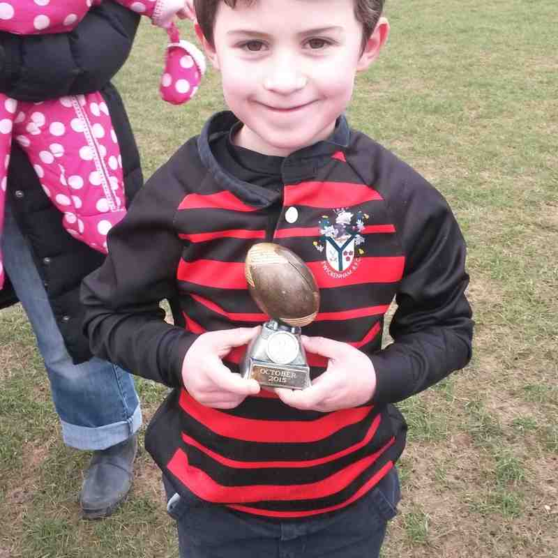 Player of the Week U7s 2015/2016