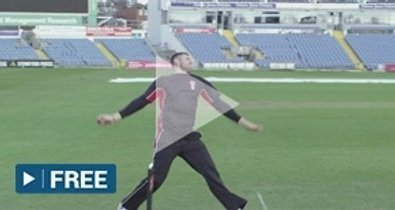 Fast bowling target practice