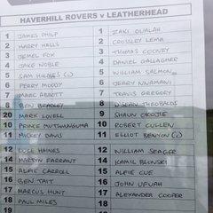 HRFC vs Leatherhead FC (22 Sep 18)