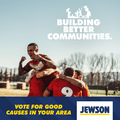 5 sports clubs amongst winners in the Jewson Building Better Communities competition.