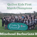 Quilter Kids First Champions winner – March: Minehead Barbarians RFC