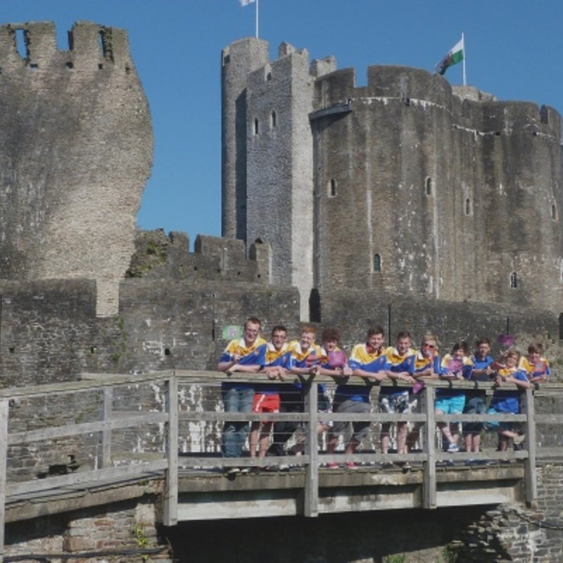 Olympic Flame at Caerphilly Castle, 25th May 2012
