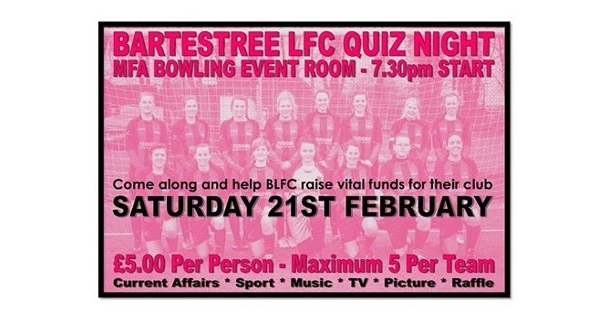 BARTESTREE FC LADIES QUIZ NIGHT 21/2/15 - News - Girls - BARTESTREE F C