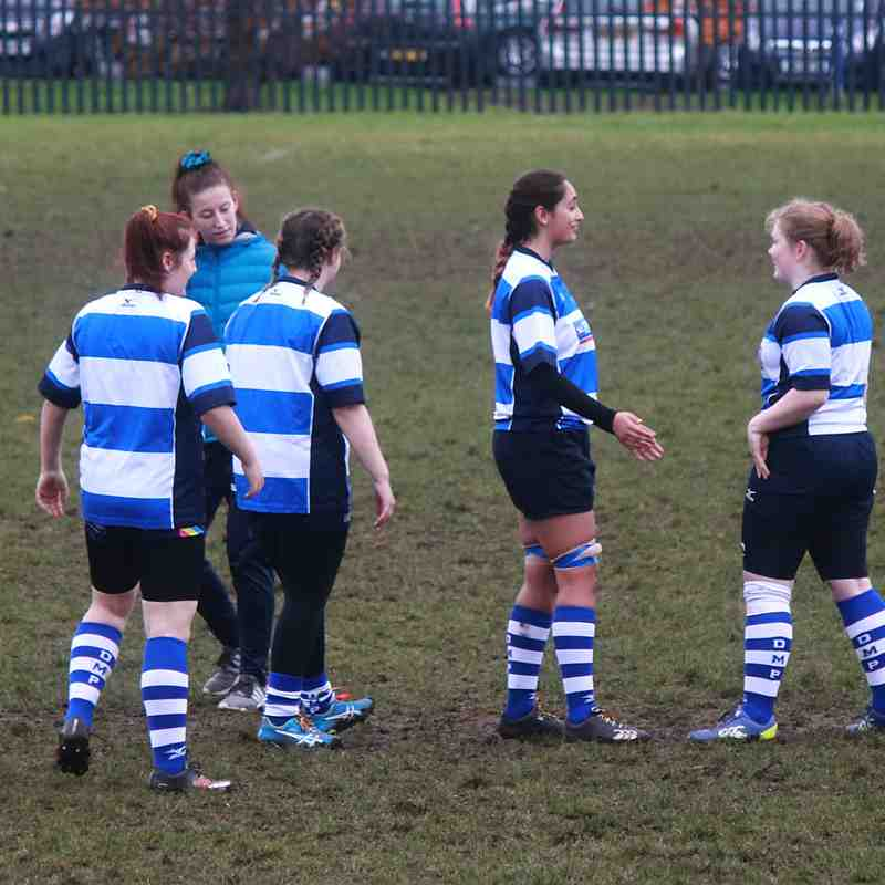 Mowden U18 Girls at Houghton on Remembrance Day 2018