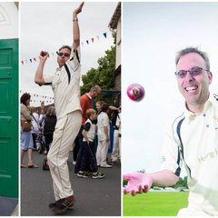 Photos of me in cricket