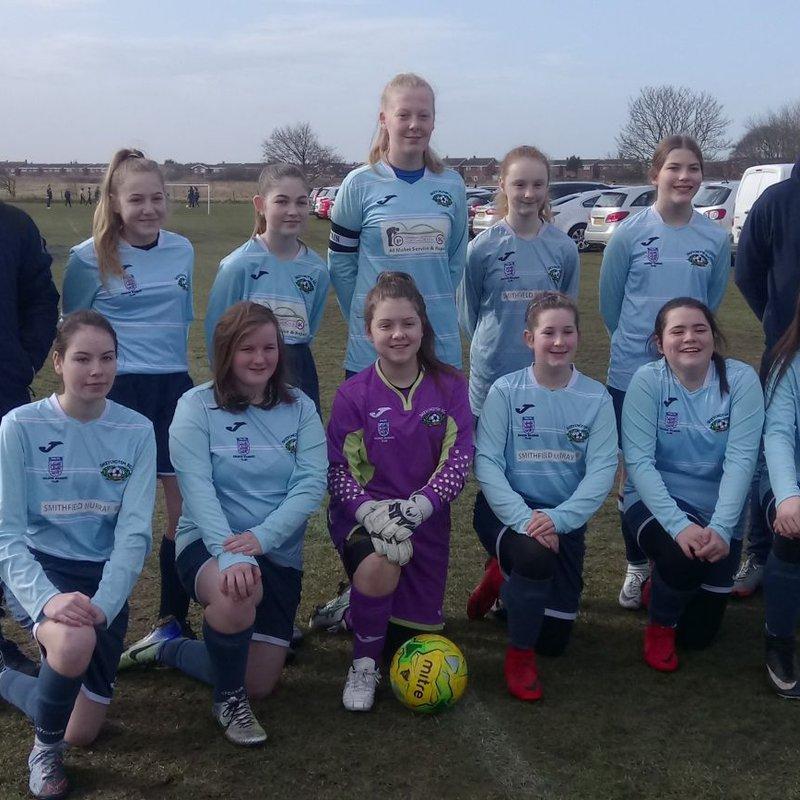 U15's Girls beat Burnley girls 1 - 2