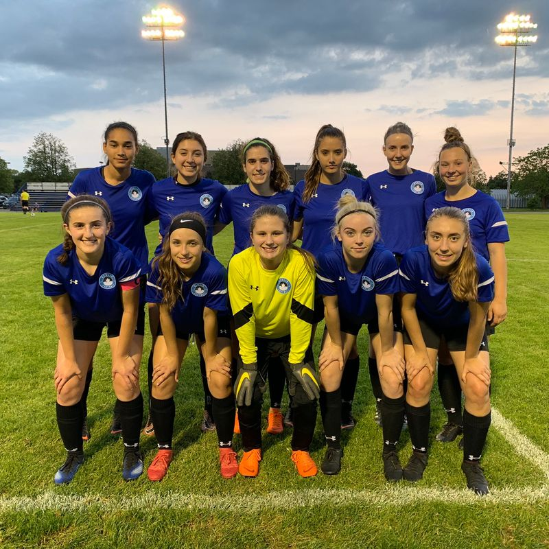 Berlin Academy XI Girls beat Huronia Saintes 8 - 0