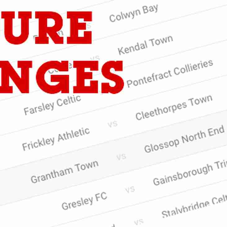 Four fixtures added to Saturday 27th October list