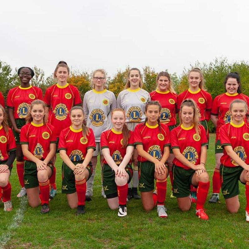 2018 U16 Girls beat Abingdon Youth 8 - 2